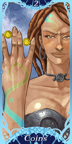 Webcomics Tarot: Minor Arcana Template
